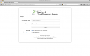 Responsive Forefront TMG Forms Authentication on Desktop