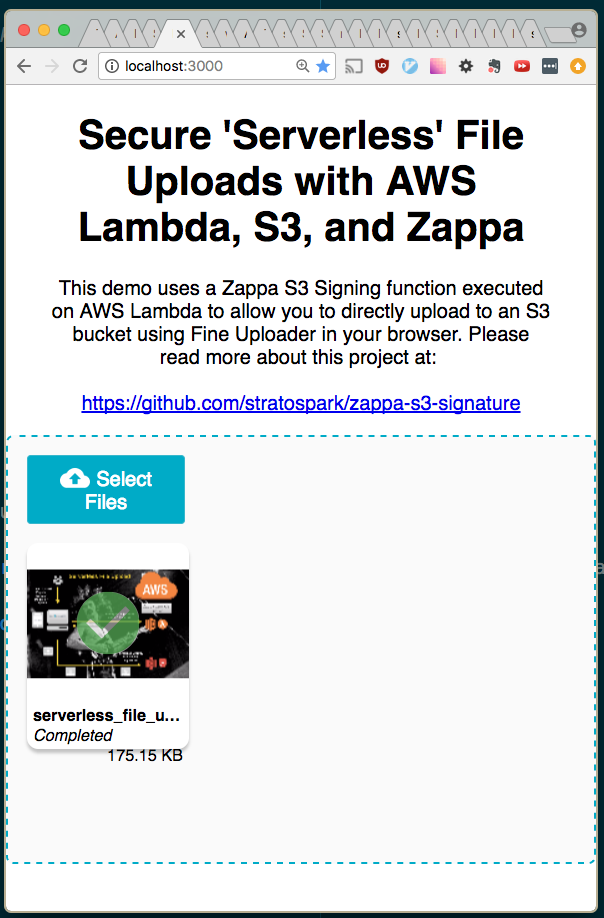 GitHub - stratospark/zappa-s3-signature: Sign AJAX/CORS requests on