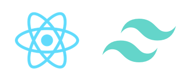 React Native and Tailwind CSS logos