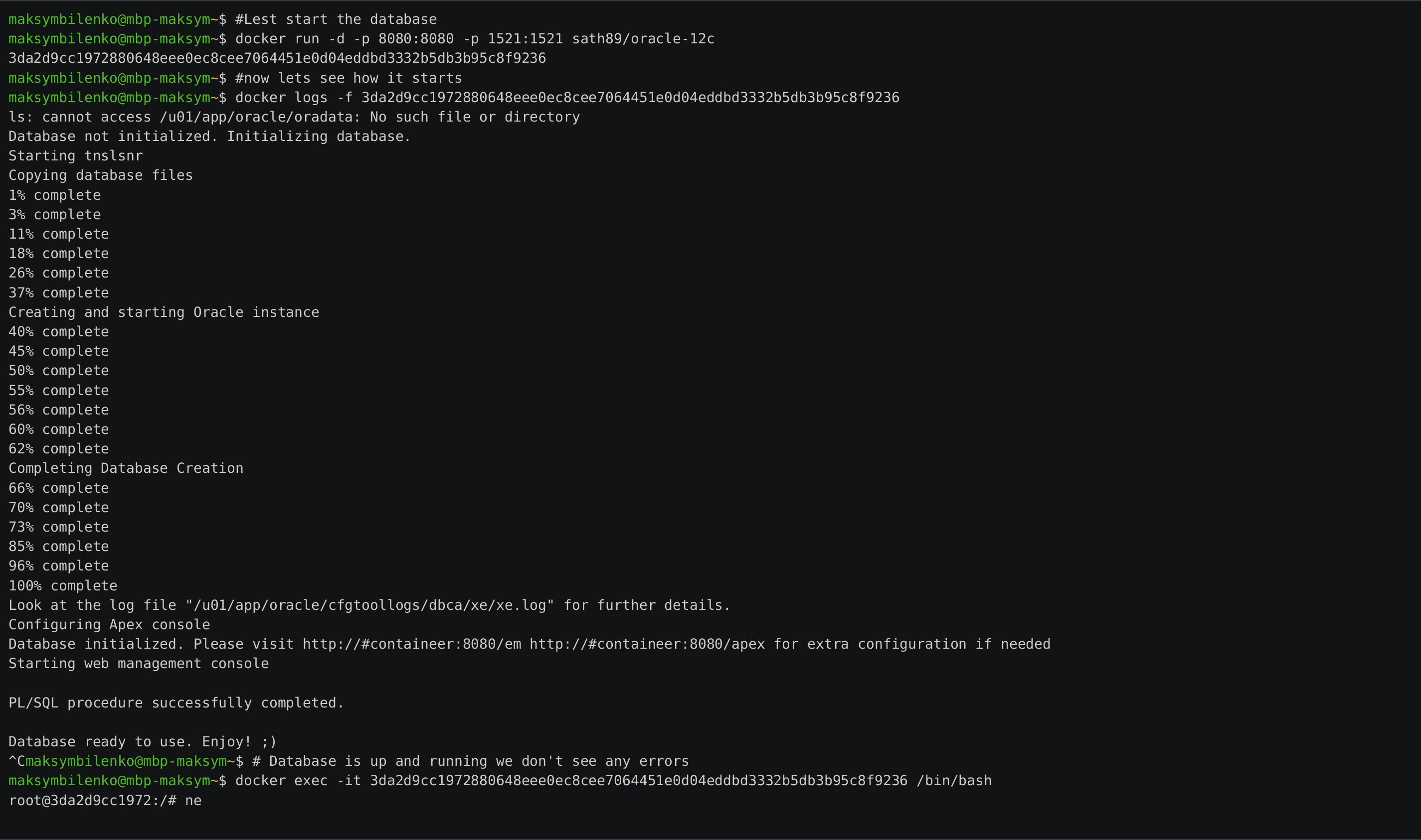 GitHub - MaksymBilenko/docker-oracle-ee-11g: 🐳 Dockerfile