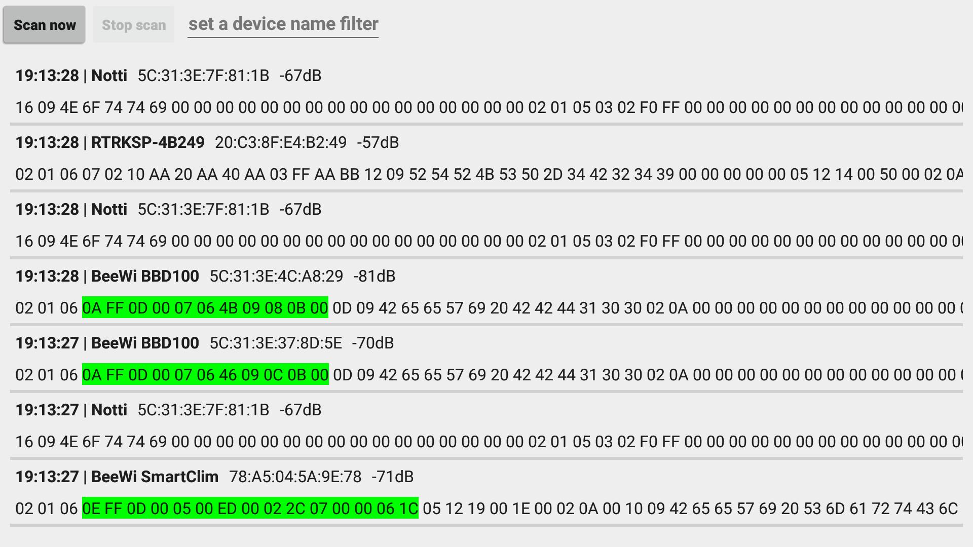 GitHub - bertrandmartel/bluetooth-advert-viewer: Android Bluetooth ...
