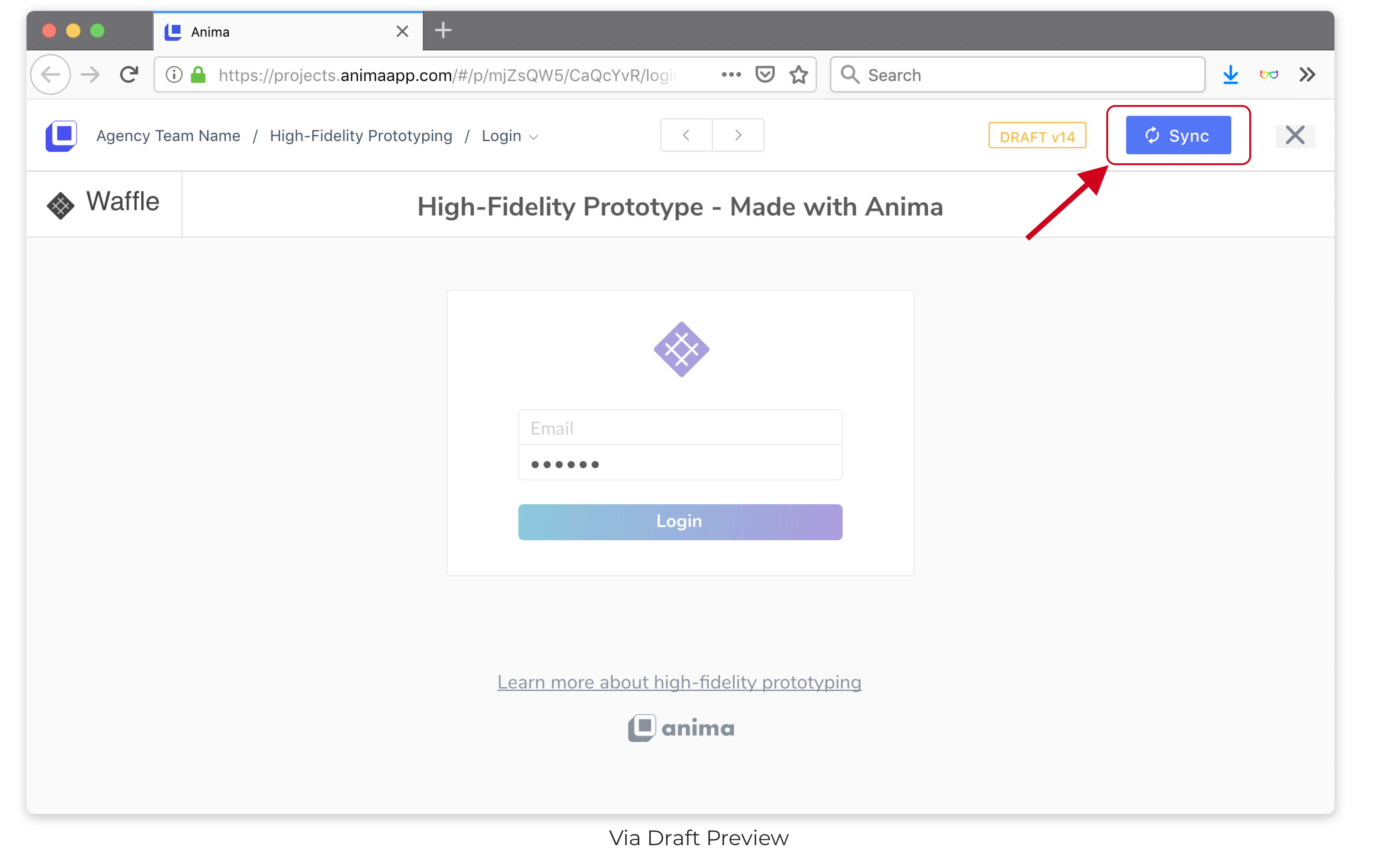 Sync Via Preview in Browser