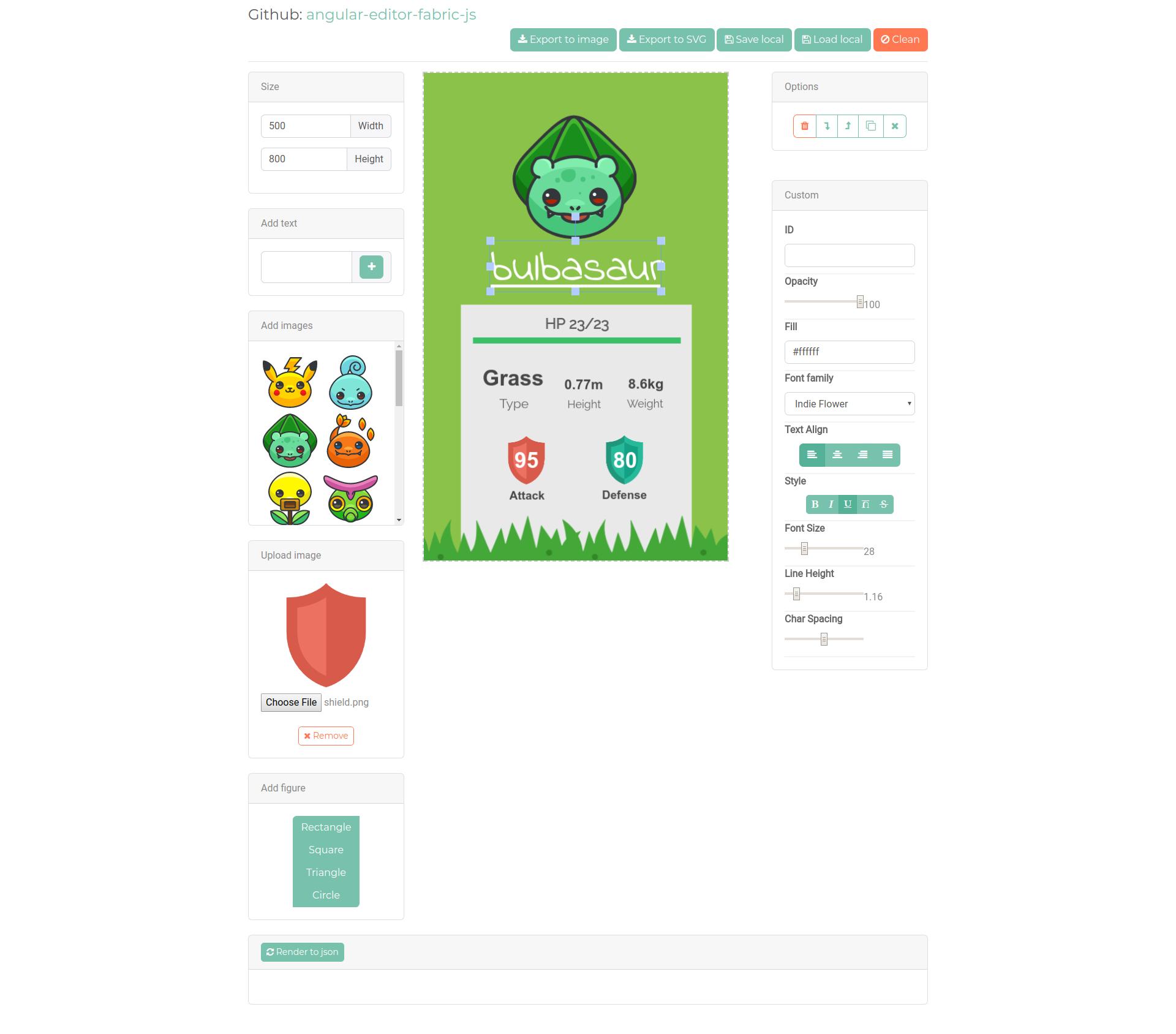 GitHub - kevoj/angular-editor-fabric-js: Drag-and-drop