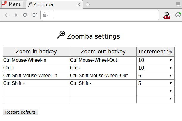 GitHub - appdevsw/zoomba: Web Browser extension