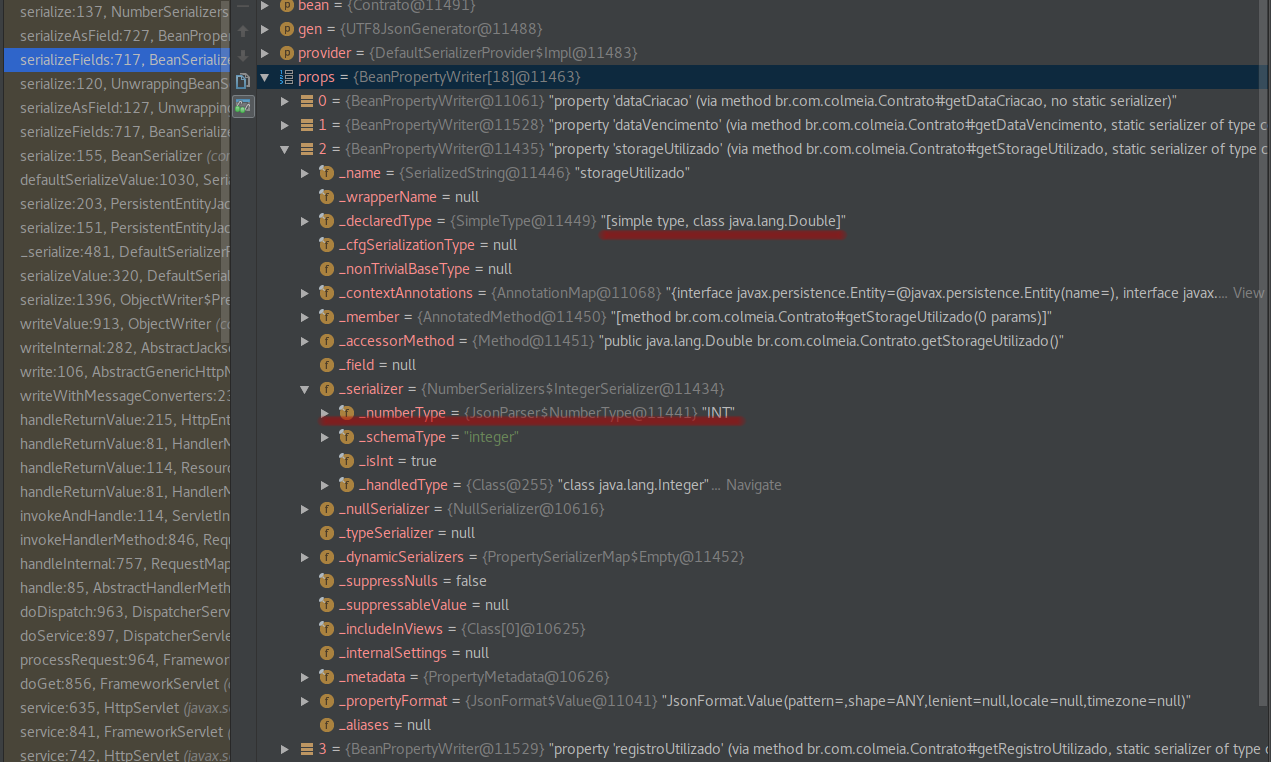 Wrong serializer causing JsonMappingException · Issue #1612