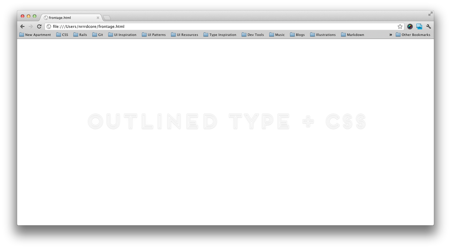 frontage css text shadowing