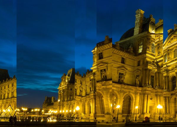 Blue hour in Paris, reconstructed using simulated annealing