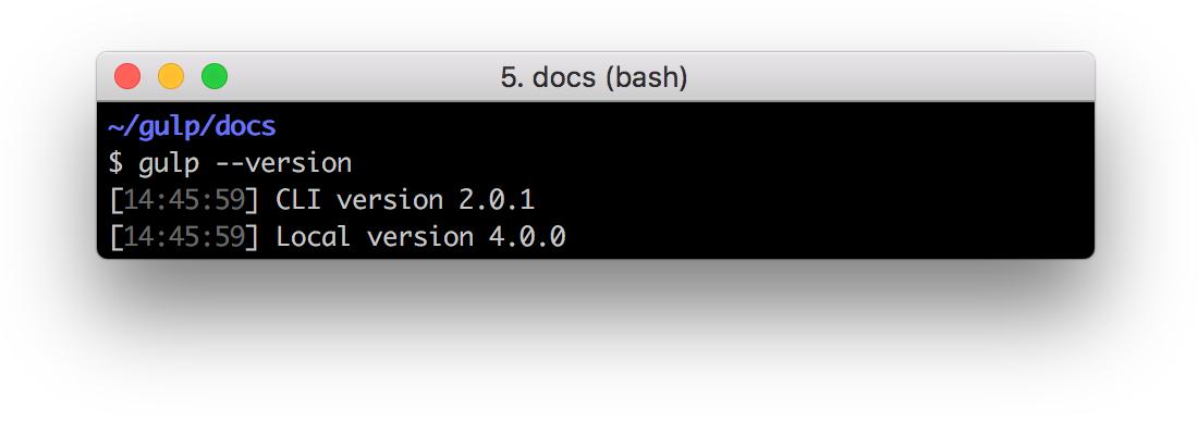 Output: CLI version 2.0.1 & Local version 4.0.0