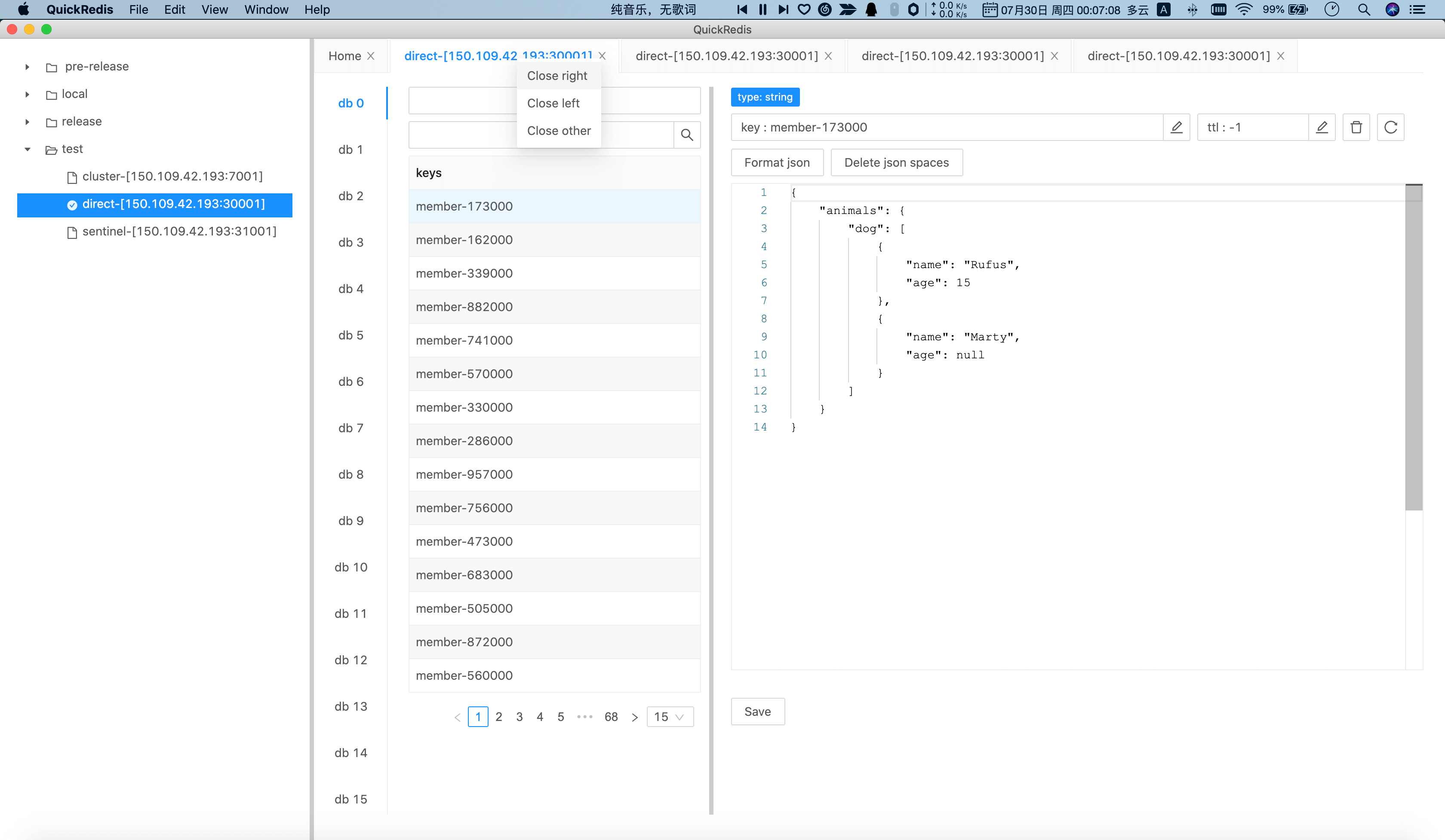 Quickly close multiple tabs