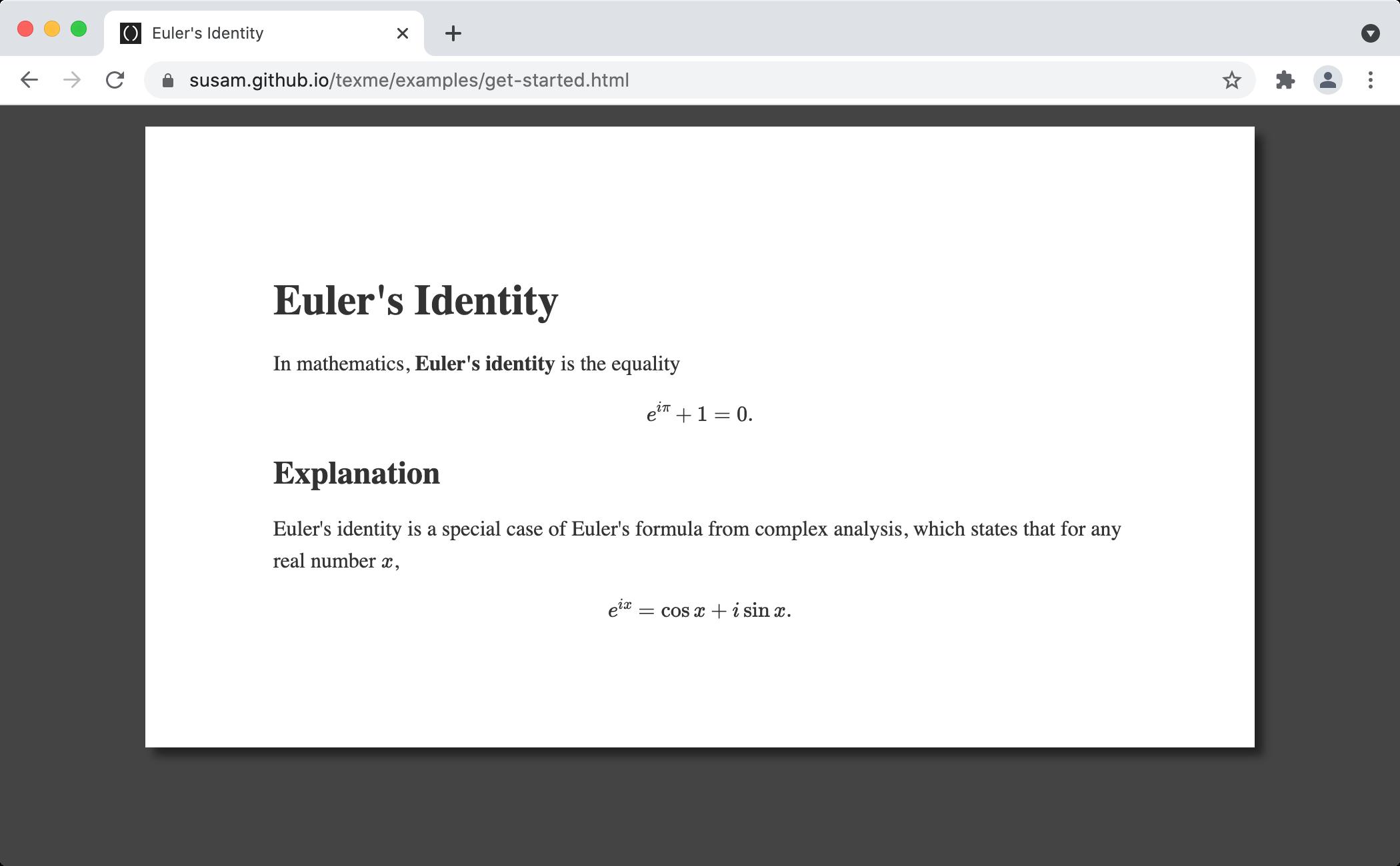 TeXMe Screenshot