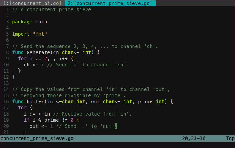 Sample Go code