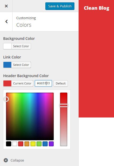 header background color