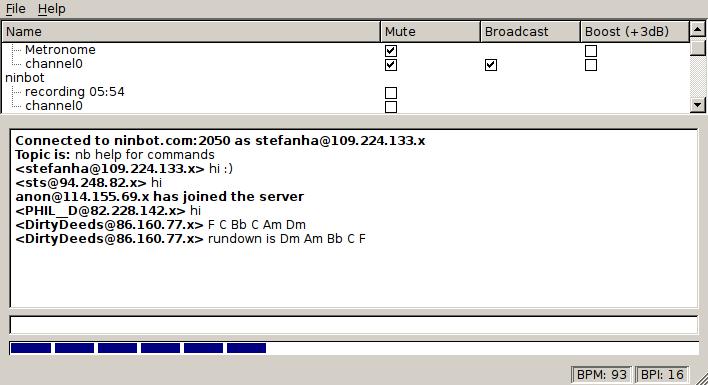 Wahjam screenshot