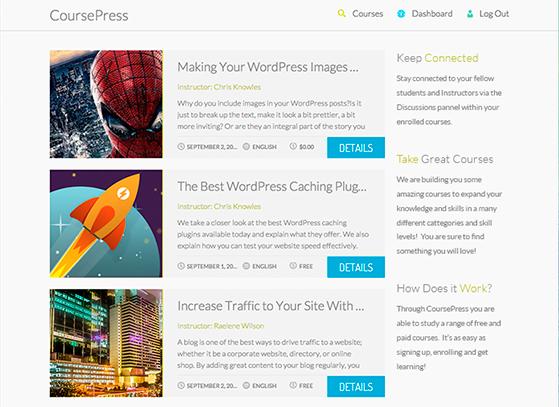 CoursePress - front-end