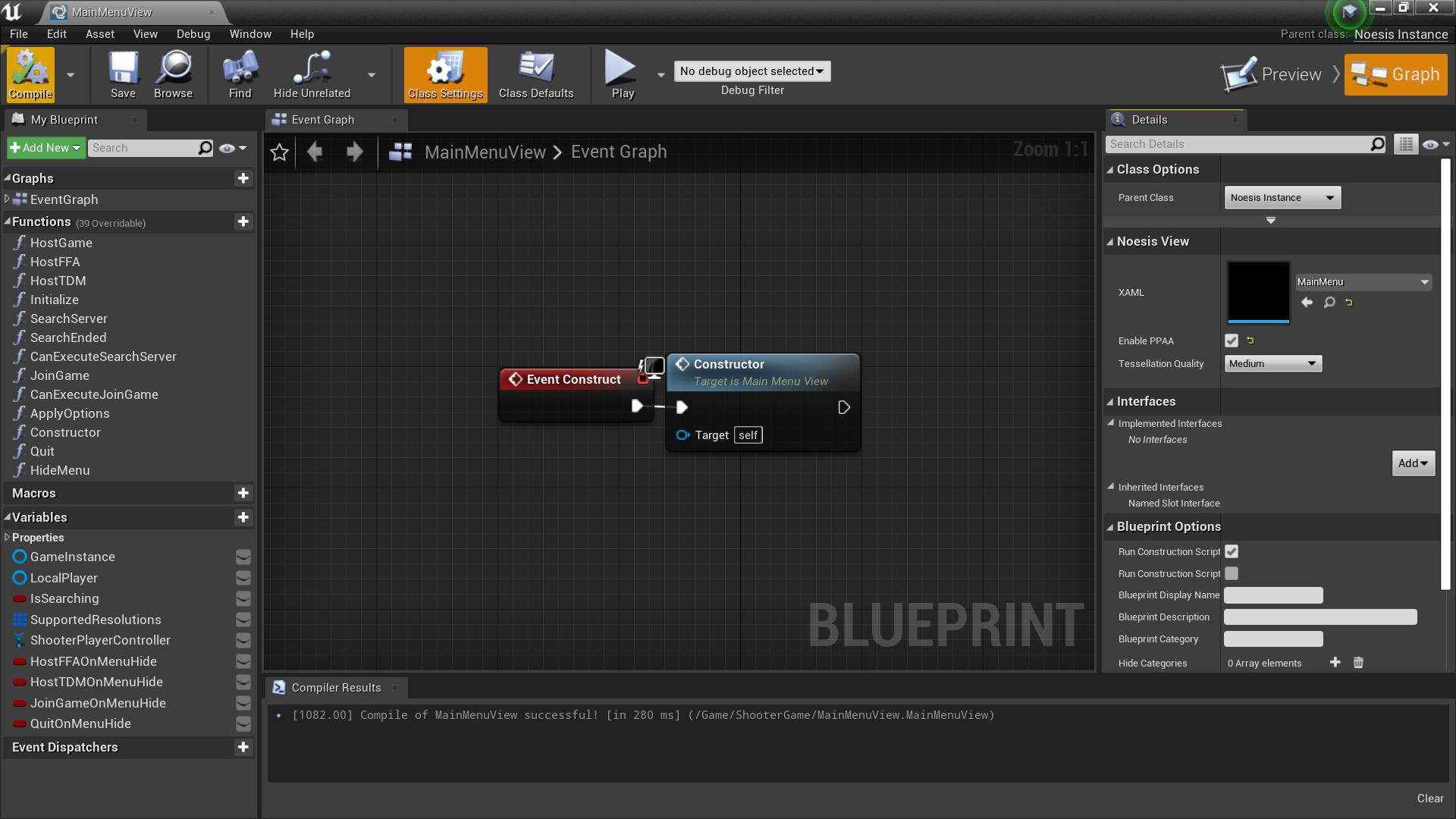 NoesisBlueprint'/Game/ShooterGame/MainMenuView.MainMenuView'