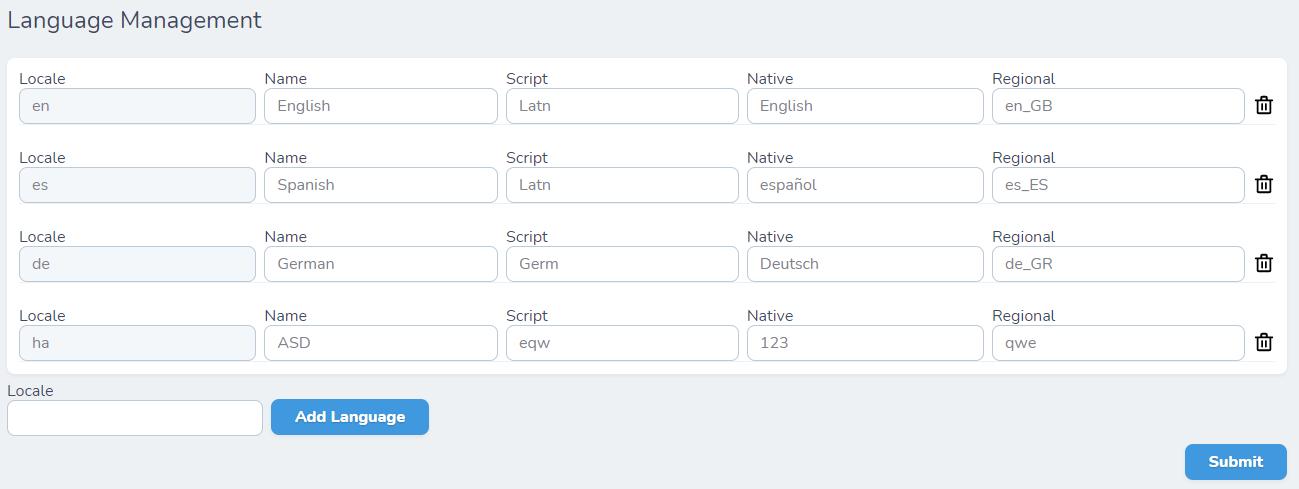 Nova language management
