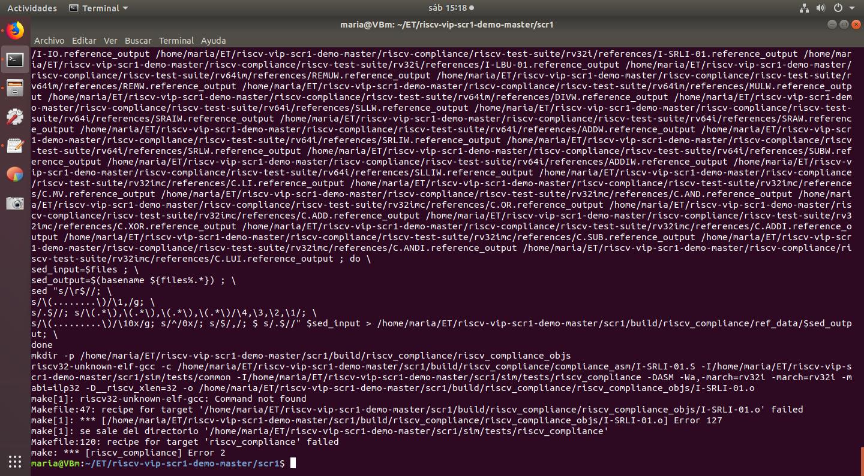 riscv32-unknow elf-gcc: Command not found · Issue #278