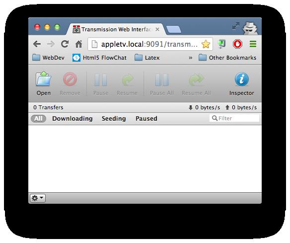 Transmission Screenshot