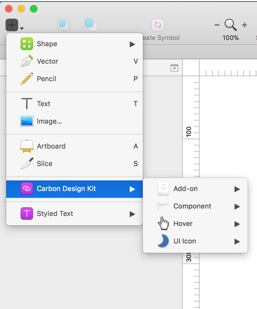 Navigating to Sketch Libraries through the toolbar > insert