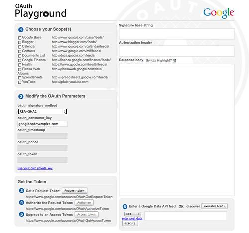 GitHub - ebidel/oauthplayground: The original OAuth (1 0