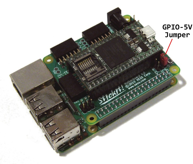 StickIt! Board + XuLA2 Board + Raspberry Pi B+/2