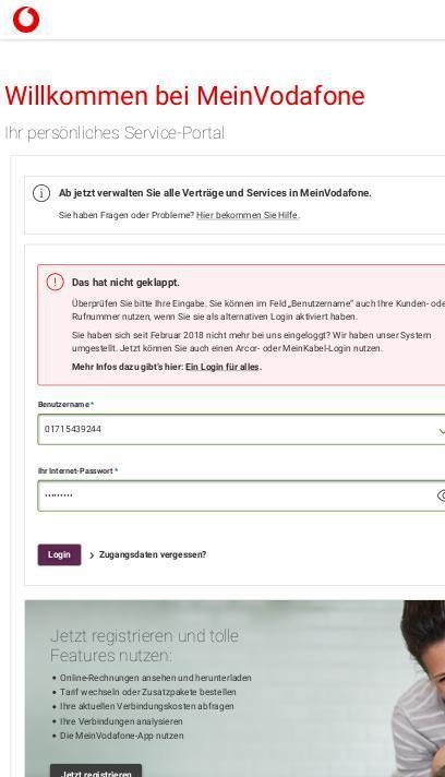 Www Vodafone De Rechnung Telefonnummer