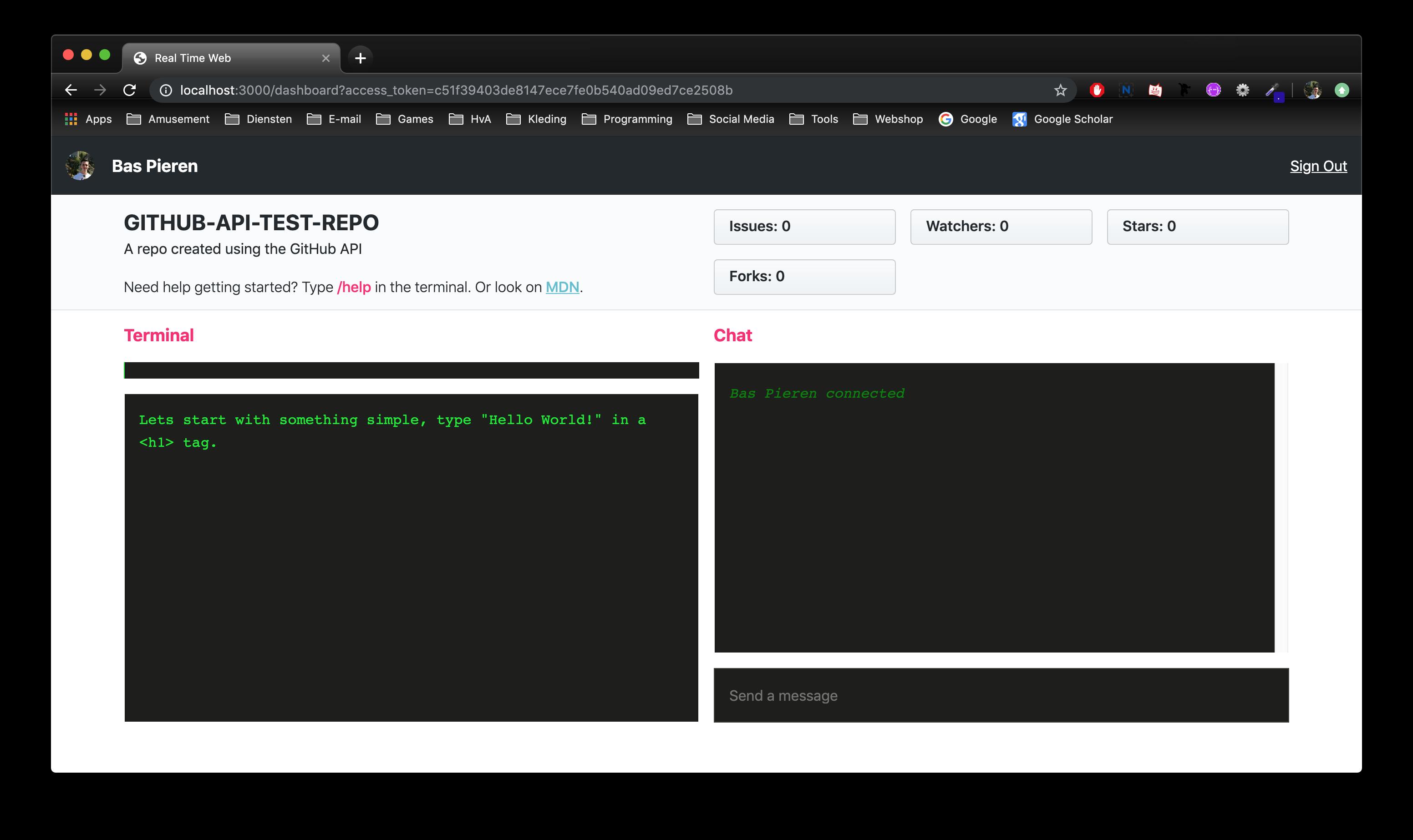 Real Time Web Screenshot
