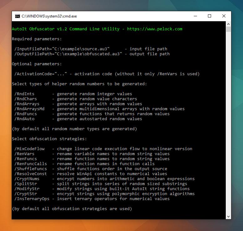 AutoIt Obfuscator Windows Client