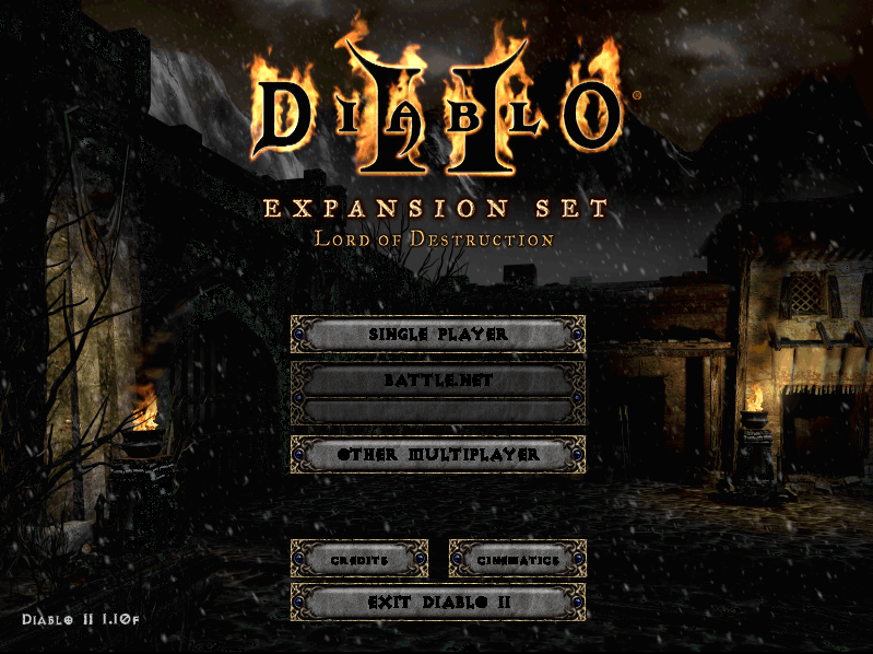 Diablo II Main Menu in OpenD2