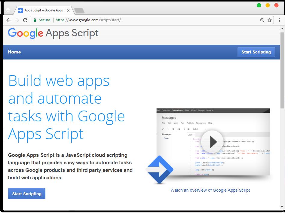 Google Script - Sramad GArdezi
