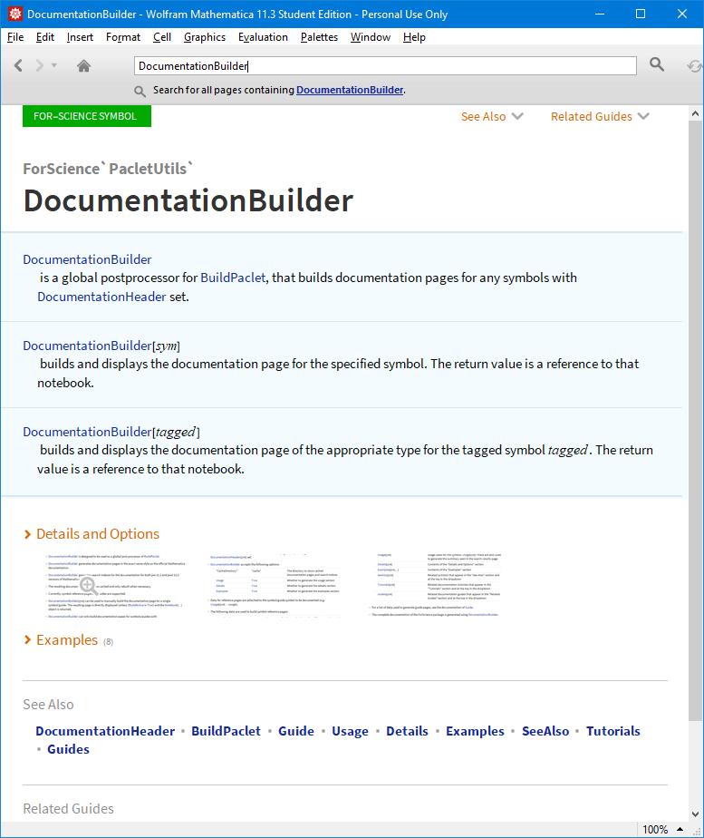 DocumentationBuilder