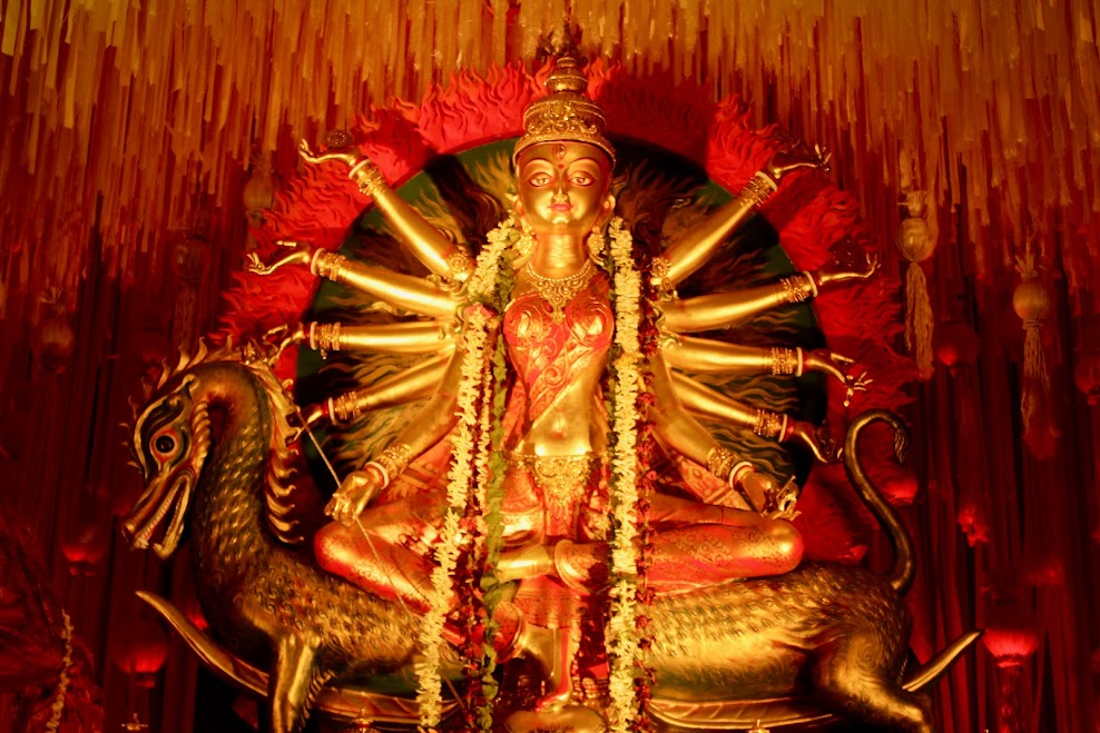 chinese themed durga idol 1