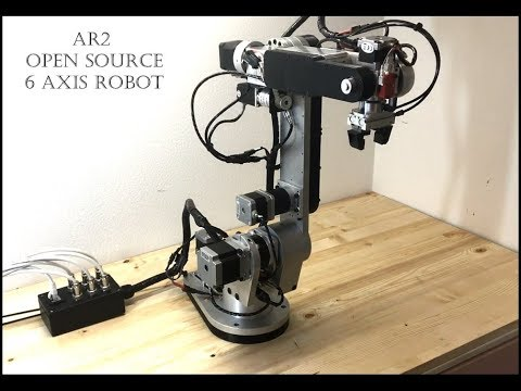 GitHub - Chris-Annin/AR2: 6 axis stepper motor robot and control