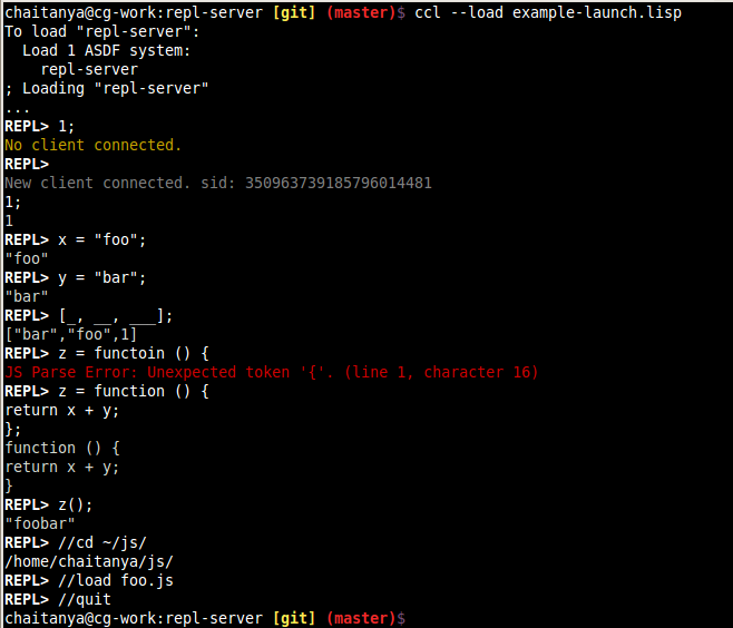 repl-server screenshot