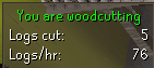 Woodcutting plugin active