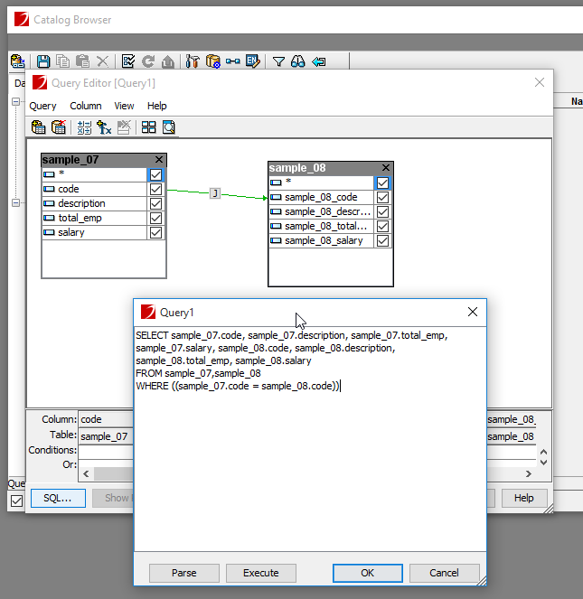 Image of Query Editor