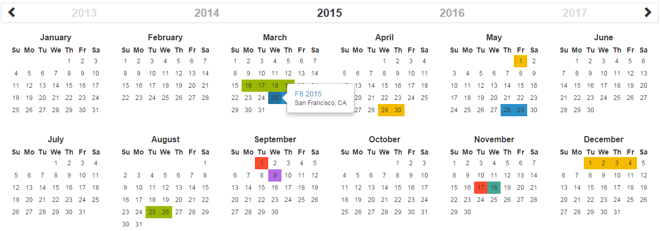 GitHub   Paul DS/bootstrap Year Calendar: A Fully Customizable Year ...