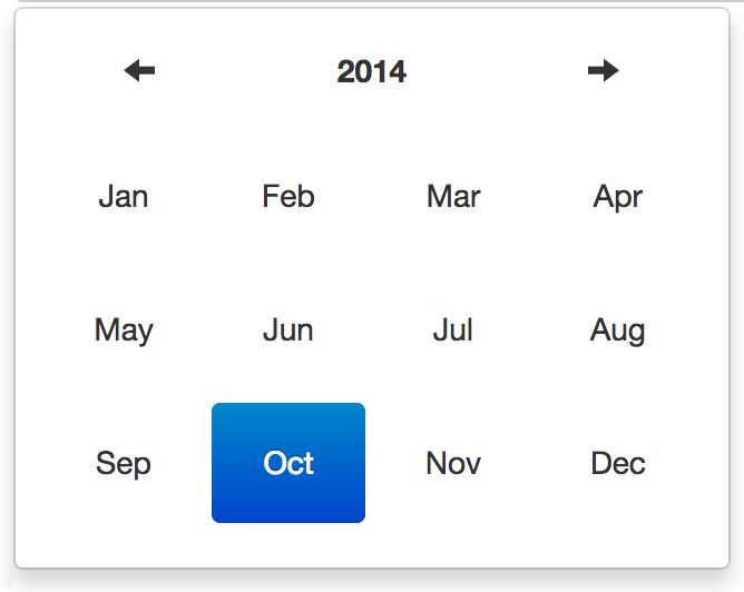 Datetimepicker month view