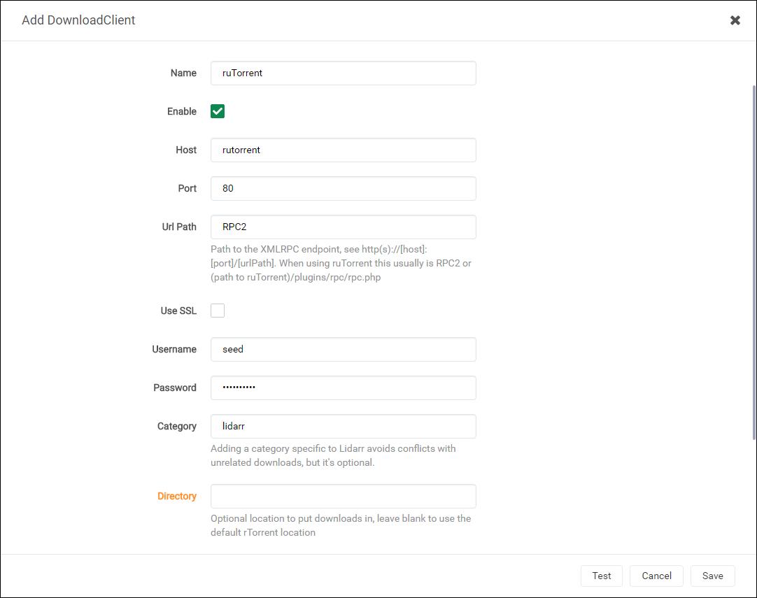 Lidarr ruTorrent Downloader