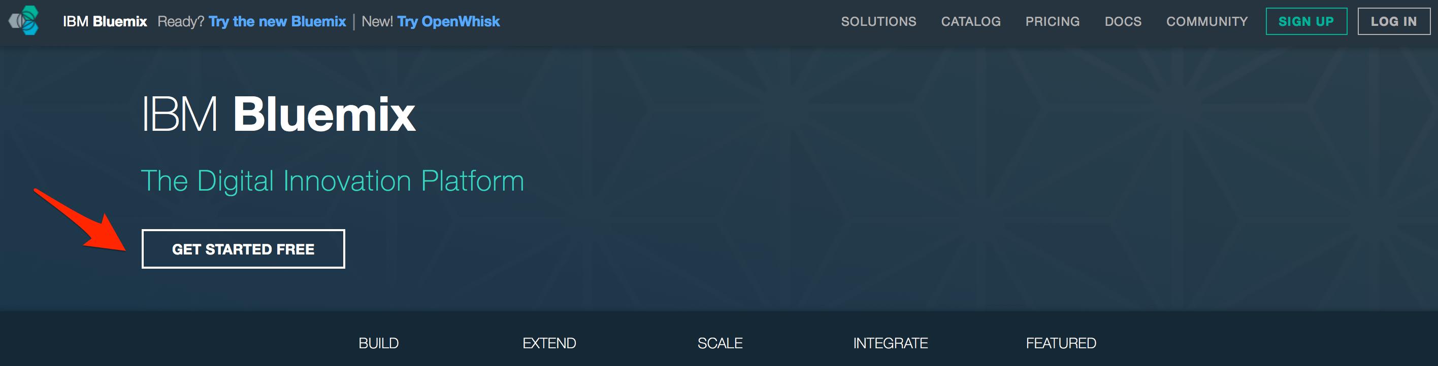 bluemix-home-page