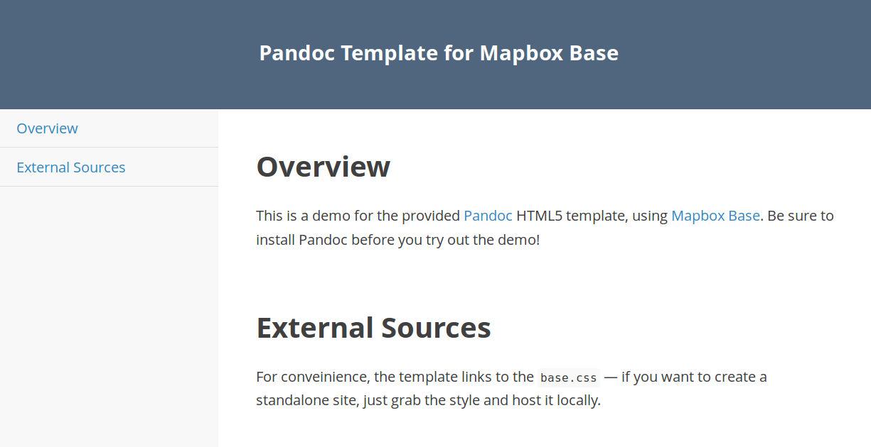 GitHub - daniel-j-h/pandoc-template-mapbox-base: Pandoc HTML5 ...