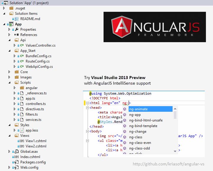 GitHub - kriasoft/angular-vs: AngularJS + ASP NET Web Api +