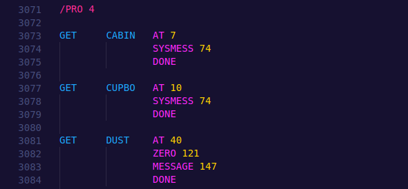 Example of a good PAWs CP/M input file.