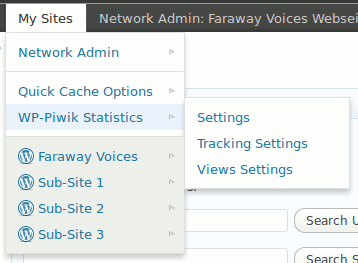 Multisite Toolbar Additions: Included plugin support for Network aware plugins. (Click here for larger version of screenshot).