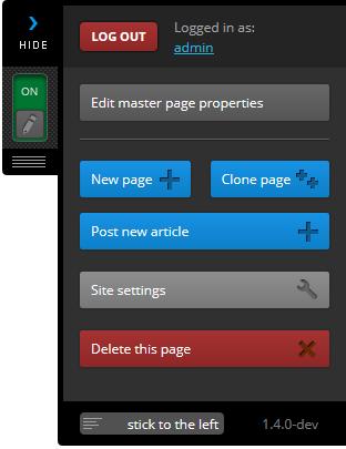 Master page sidebar