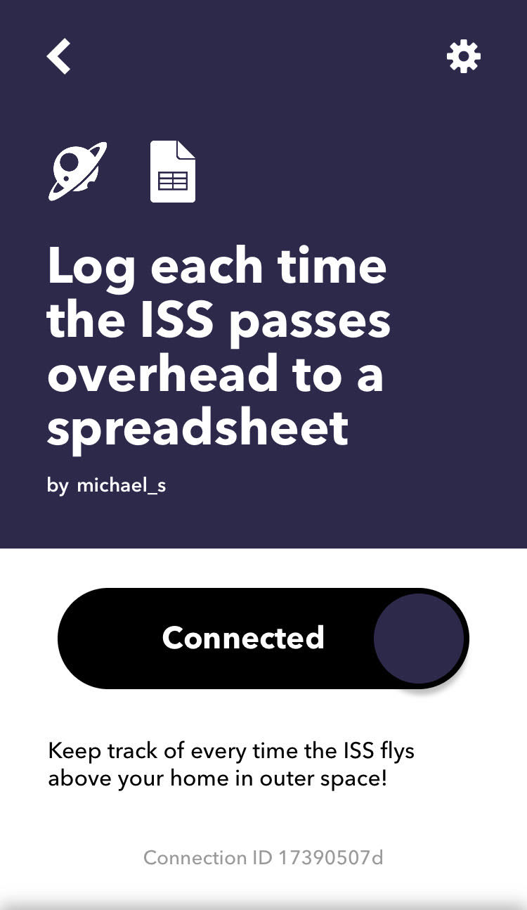 IFTTT ISS Setup