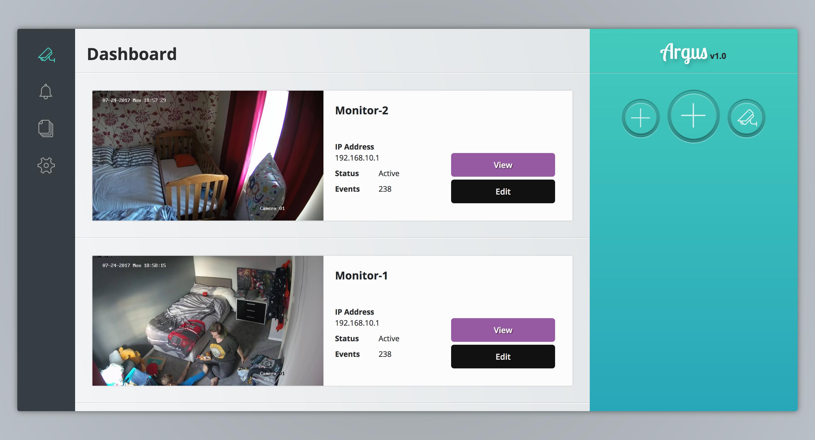GitHub - KodeStar/Argus: IP Camera viewer / manager
