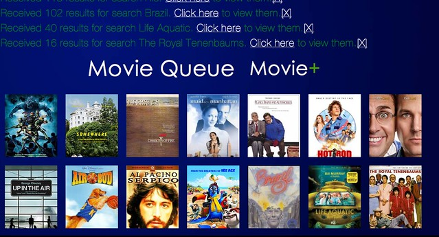 MovieQueue - Home Page UI