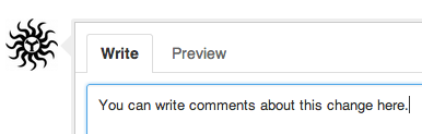 Writing a comment