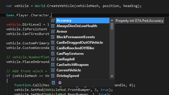 Intellisense for Game.Player.Character